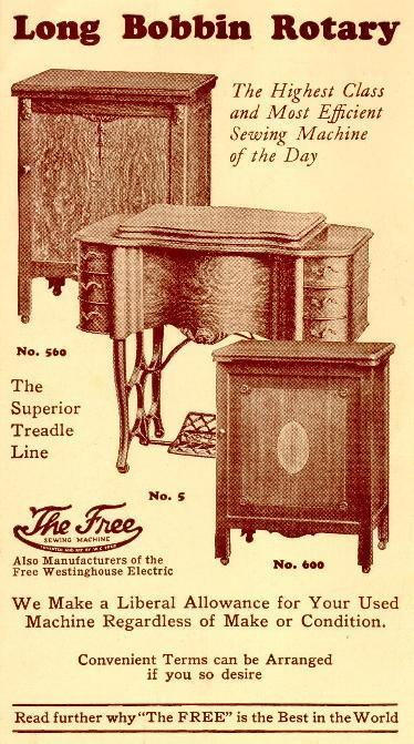 The Free Sewing Machine Company Magnificent Free Sewing Machines