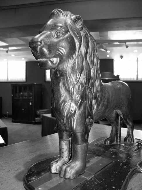Kimball and Morton Lion Sewing Machine with Feet in Place