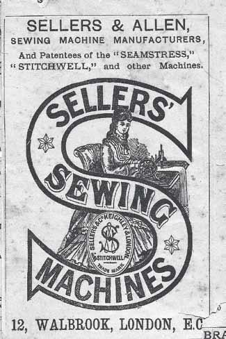 Sellers & Allen Sewing Machine Loga