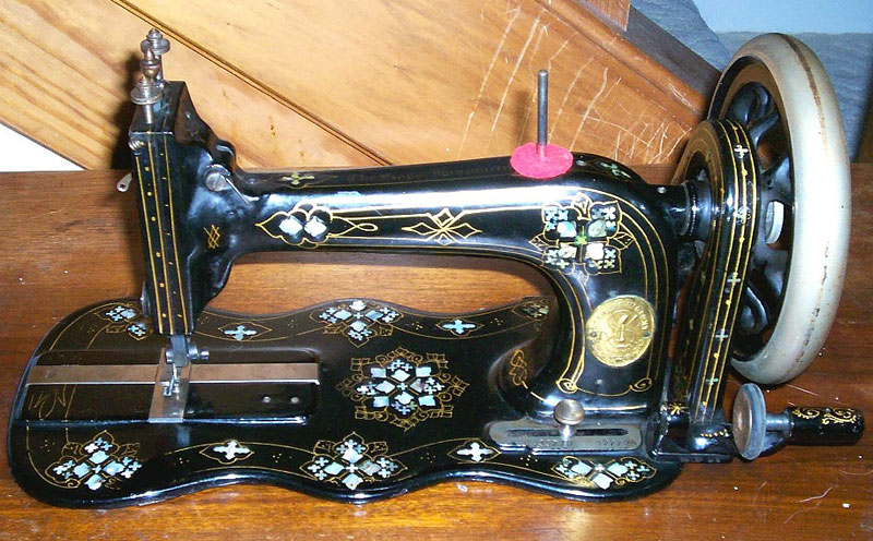 Who Invented The Bed >> Singer Mother of Pearl class 12 Sewing Machine Decals