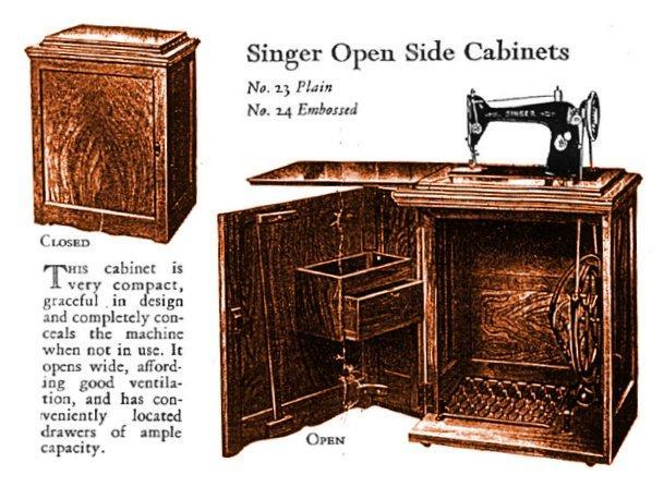 Singer Cabinets 23 and 24