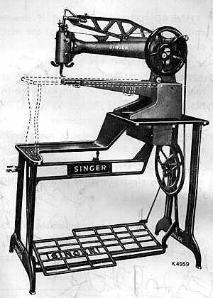 Singer Model 40 Leather Stitching Sewing Machin Simple Singer Sewing Machine For Leather