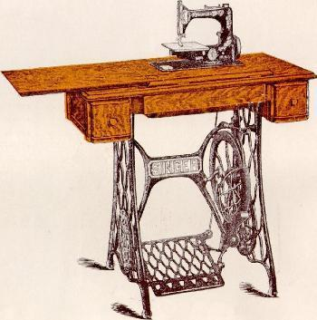 Singer Sewing Machine Cabinet Table No. 10