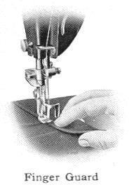 finger guard sewing machine