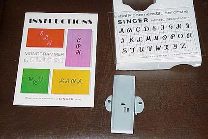 Singer Sewing Machine Monogrammer Attachment