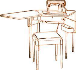 Singer Sewing Machine Cabinet No. 74