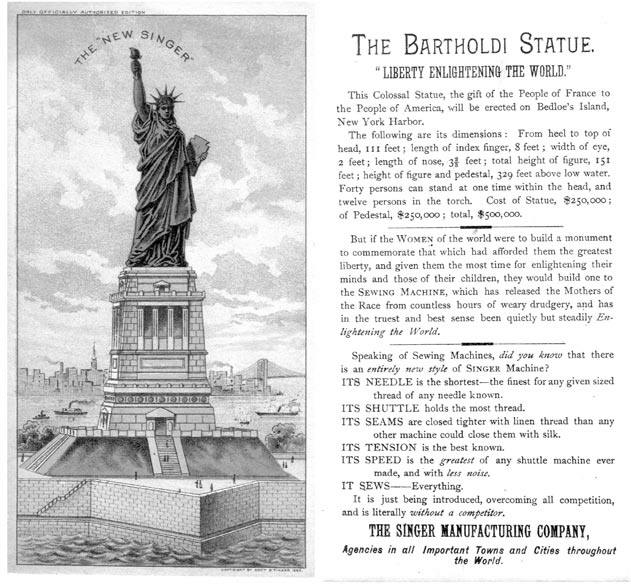 Singer's Connection to Bartholdi's Statue of Liberty