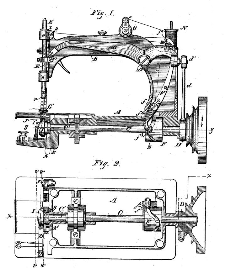 1876 Wheeler & Wilson Number 8 Patent Drawing by James House